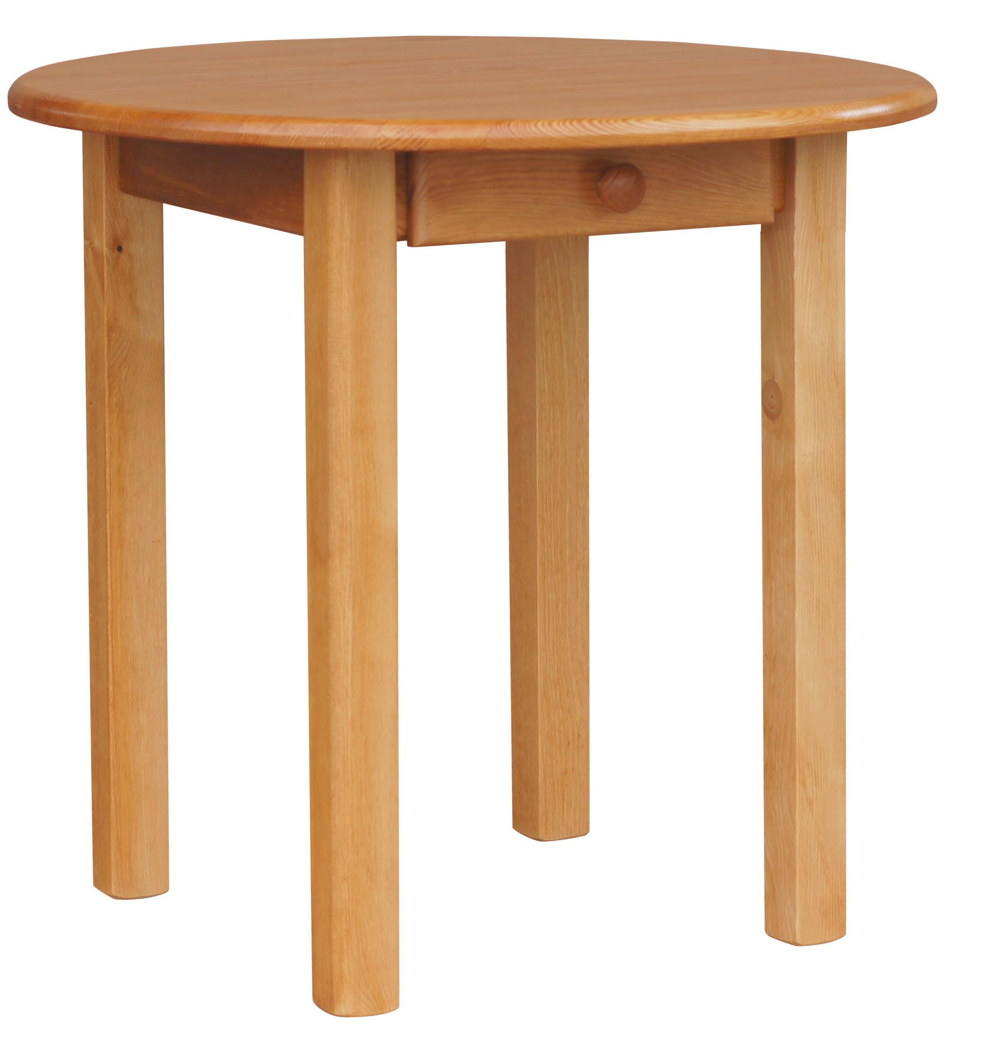 Runder Kiefer Tisch Mit SCHUBLADE Esstisch Küchentisch