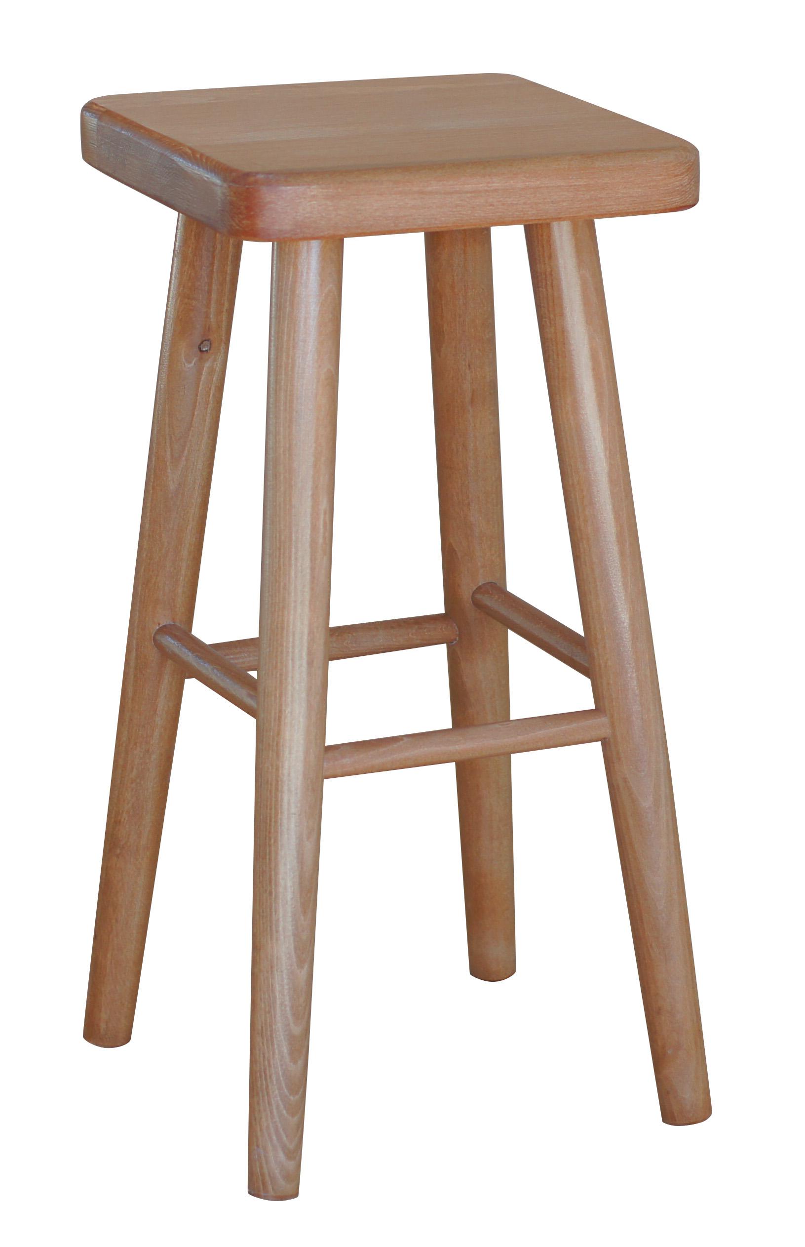 barstuhl buchenholz hocker neu 61cm hoch ebay. Black Bedroom Furniture Sets. Home Design Ideas
