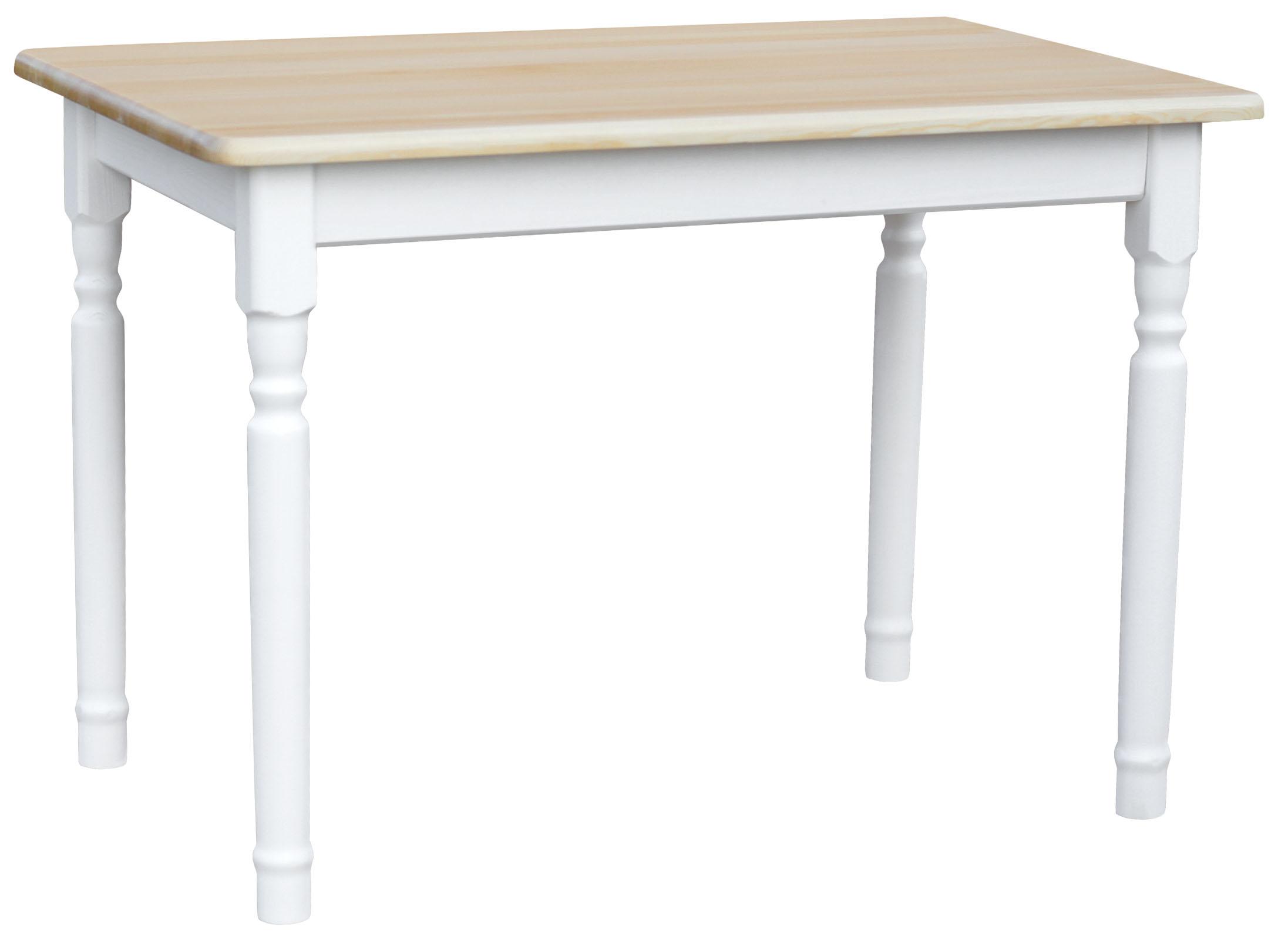 Esstisch Küchentisch Tisch MASSIV KIEFER HOLZ weiß honig Landhausstil - NEU
